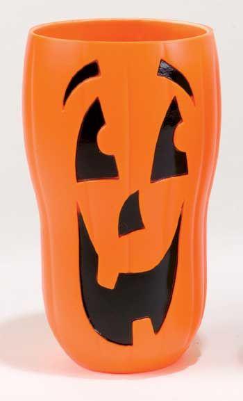 Halloween Trinkbecher Kürbis orange