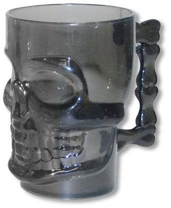 Rauchglas Totenschädel Krug