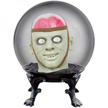 Kristallkugel mit Monsterkopf
