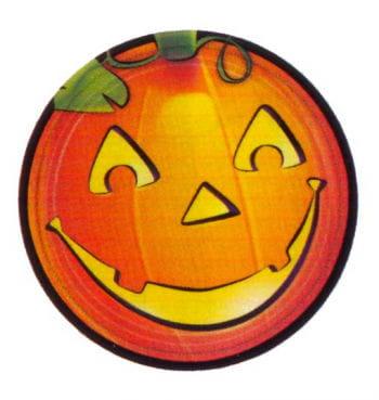 Pumpkin Halloween Party Plates