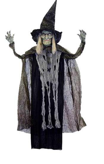 Lebensgroße hängende teuflische Hexe