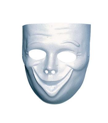 Weiße Gesichts  Maske Komödie
