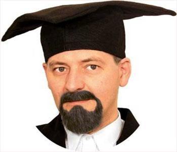 Professor beard combination black