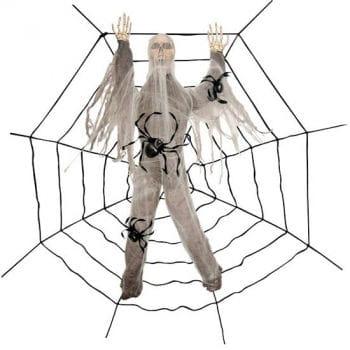 Skelett Spinnwebenopfer 240 cm