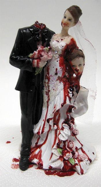 Brautpaar mit geköpftem Bräutigam 23cm premium