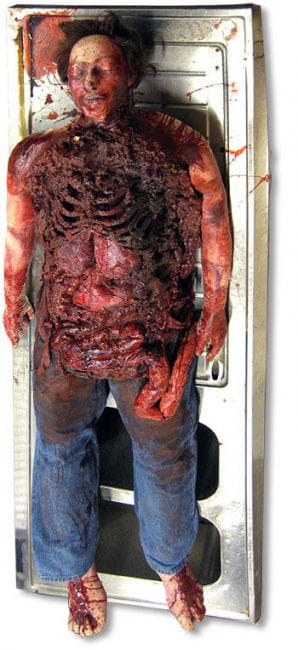 Autopsie Leichnam lebensgroß