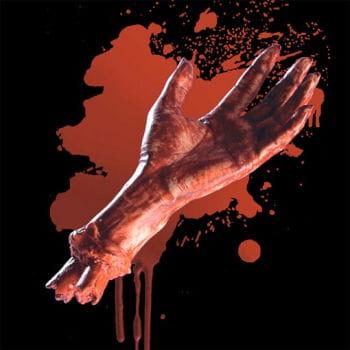verbrühte Vinyl Hand