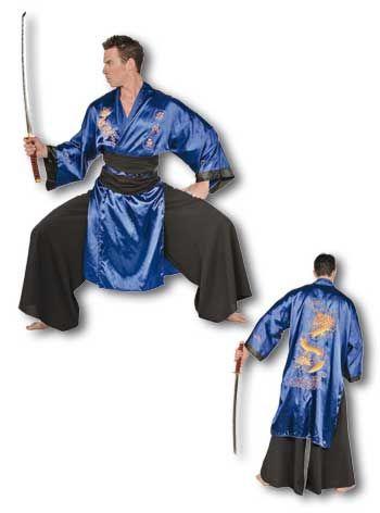Samurai Kostüm blau