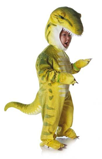 Dino Rex Costume Green L