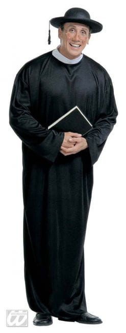 Priest Monsignor Costume black Gr. M