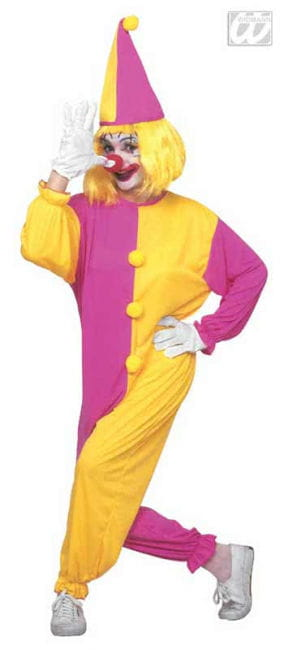 Clown overalls costume pink / yellow