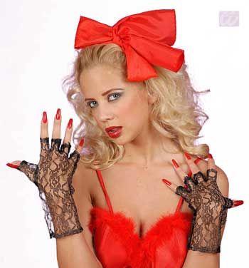 short, fingerless lace gloves blk.