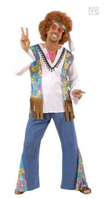 Hippie Männer Kostüm Gr. S