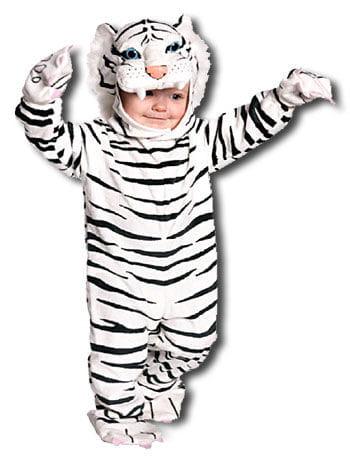 Weißer Kuschel Tiger Kostüm Gr. M