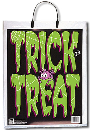 Trick or Treat bag with spider motif