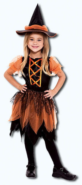 Pumpkin Patch Witch Child Costume Size S