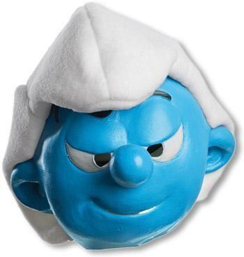 Hefty Smurf mask