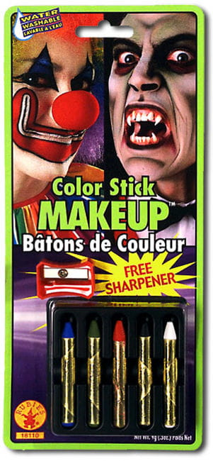 Make-up Pencils Set 5 Colors With Sharpener