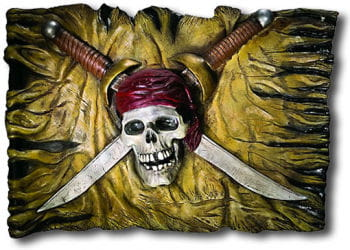 Pirate Flag Wall Plaque