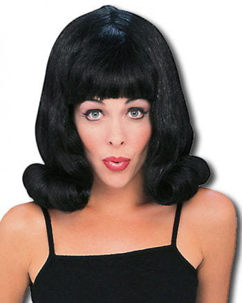 Flip Perücke schwarz 60s Style