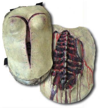 Weiblicher Autopsie Oberkörper