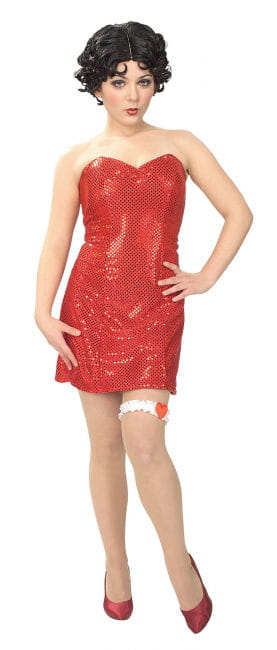 Betty Boop Sequins Minikleid Gr. M 38