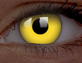 UV-Kontaktlinsen gelb