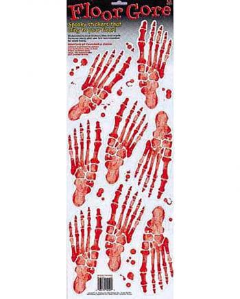 Skelett Fußabdruck Bodenfolie