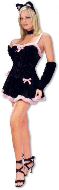 Sexy Plush Kitten Costume ML