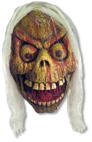 Megariesen Zombieschädel mit LED Augen
