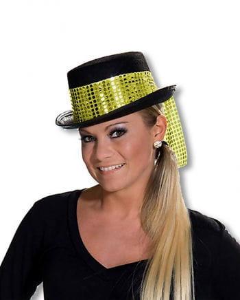 Women cylinder with golden hatband