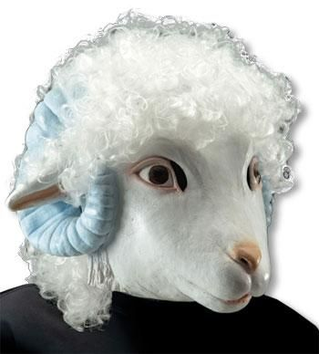 Sheep Latex Mask