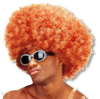 Krause Afro Perücke Rotbraun