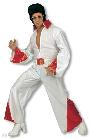 King of Rock costume with red glitter L