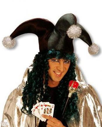 Joker Bommelmütze mit Haaren grün