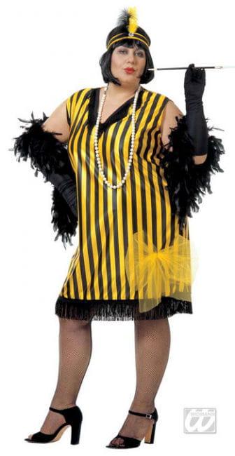 Charleston dress black yellow XL