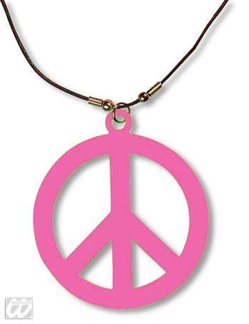 Hippie Kette neonpink