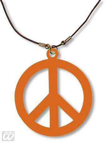Hippie Kette neonorange
