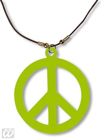 Hippie Kette neongrün