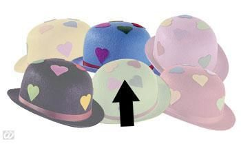 Light Blue Party Hat with Hearts