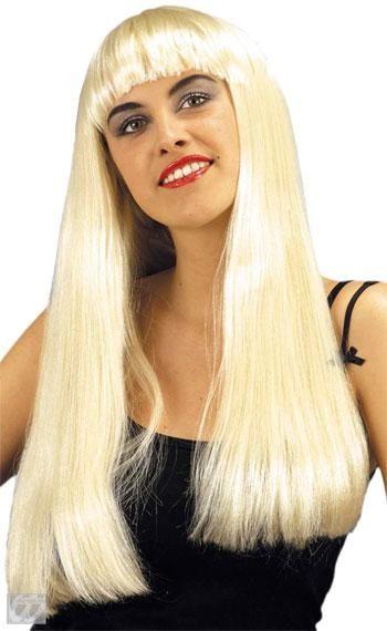 Lady Superstar Perücke mit Pony Blond