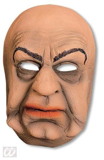 Old wizened old woman half mask