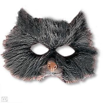 Kindermaske Katze mit Plüsch