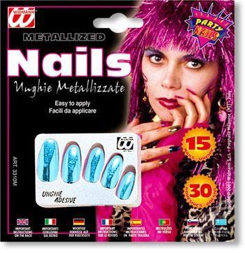 Metallic Fingernails Azure