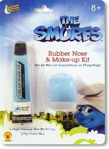 Smurf Make Up and Nose Kit