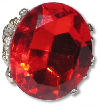 Round ring with ruby gemstone