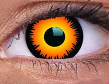 Contact Lenses Orange Werewolf