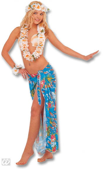 Hawaii blue wrap skirt