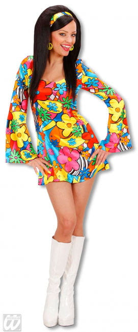 Flower Power Girl Kostüm Medium