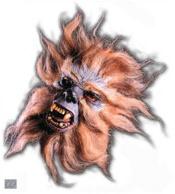 Werwolf Halbmaske grau